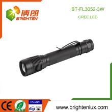 Fabrik Großhandel Notfall Gehäuse Hand-Einstellbare Zoom Fokus Aluminium Helles Licht 3watt Cree LED-Taschenlampen und Taschenlampen