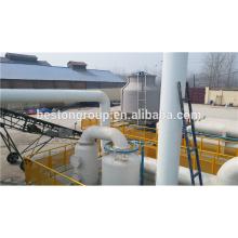 100% de seguridad y la planta de pirólisis de plástico de chatarra popular superior, camión de plástico LDPE HDPE PP ABS de residuos de coche usado cambiador de neumáticos de petróleo