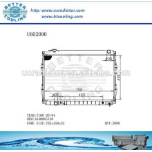 Radiador Para TOYOTA 93-94 T100 1640065130 Fabricante y Venta Directa