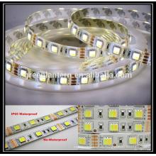 DC12V затемнения водонепроницаемый 300 светодиодов ЧУТ гибкие smd5050 двойной цвет светодиодные полосы света