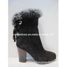 Hot-Sale High Heels Women Boot with Fashion Warm Fur