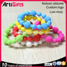 New products gifts wholesale sports silicone bead wristbands