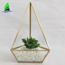recipiente geométrico do terrário da pirâmide de vidro do vintage