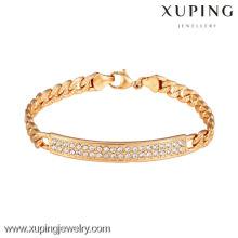 73034 Xuping novo projetado atacado banhado a ouro pulseiras de mulheres