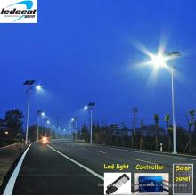 Интегрированный светодиодный уличный фонарь мощностью 90 Вт с батареей панели солнечных батарей