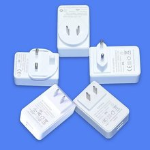 White/Black 5V3a Dual Port USB Power Adapter