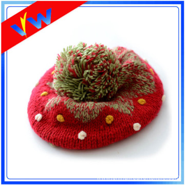 Acrylic Knitted Beanie Children Winter Hat