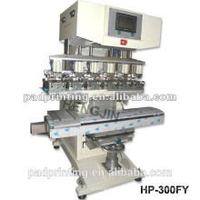 HP-300FY Pneumatic 6 color ink cup helmet pad printing machine with shuttle