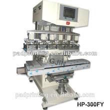HP-300FY Pneumatic máquina de impressão da almofada do capacete do copo da tinta 6 com shuttle