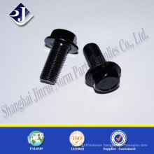 black phosphated 10.9 Mtr 40CR hex flange bolt DIN6921
