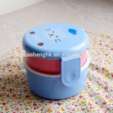Caixa de almoço bento plástico estilo japonês para alimentos