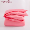High Quality Hotel Bedding Linen Supplier 100% Cotton60s Plain pink Bed Sheets Set