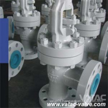 Cast Steel (Carbon or Stainless) Angle Globe Valve with RF Flange Ends
