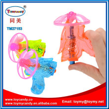 Wind up Flying Saucer Disc UFO Gun Toy with Candy