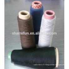 Mongolian chinois de qualité colorée peignée 100% de fil de cachemire
