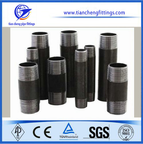 Inch Black Steel Threaded Pipe Nipples
