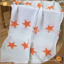 Baby Muslin Blanket 100% Cotton Baby Swaddle Blanket Grey Star Wrap Swaddle