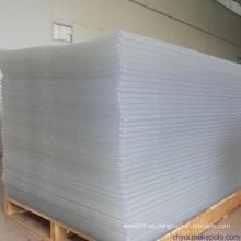 Hoja rígida transparente PVC de 2 mm de espesor