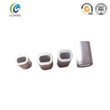 Oval crimp cable aluminum ferrule