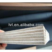 Panneau de coffrage en bois noir / brun