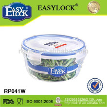 Airtight round plastic candy container with lid 600ml