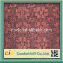 Modèle populaire canapé sellerie tissu soie sauvage