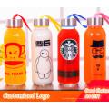 Logo personnalisé Divers Designs Sport Bouteille en verre Bouteille d'eau sport