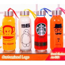 Logotipo personalizado Vários projetos garrafa de vidro esporte garrafa de água do esporte