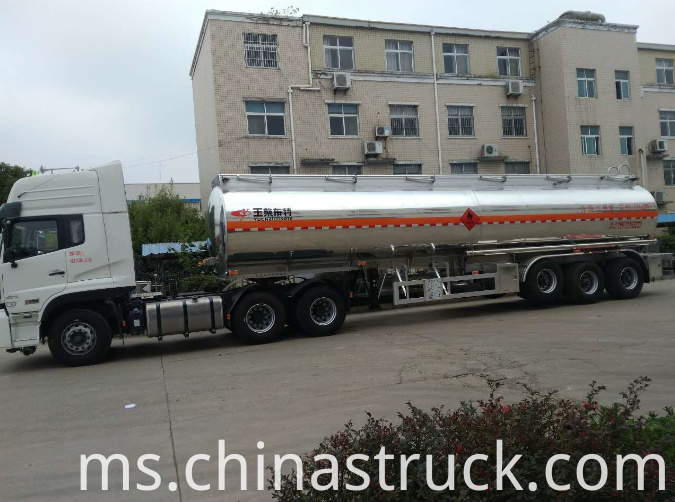 3 axle aluminum fuel tank trailer