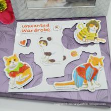 Heißer Verkauf Magnetischer Aufkleber-Tier Kühlschrankmagnet Puzzlespiel für Kinder