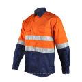 Camisa de seguridad de trabajo de algodón FR Hi Vis