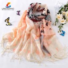 Mehrfarbige 100% Wolle Pashmina Schals lange Frauen schöne weiche Wrap Schal