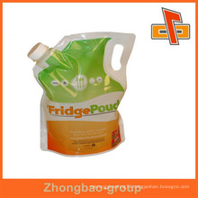 guangzhou manufacturer laminated materials liquid pouch with spout