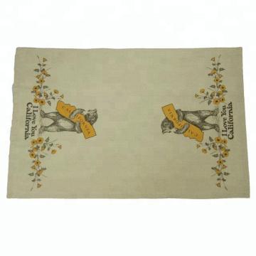 2018 Kefei Hot Selling Custom Printed Linen Kitchen Tea Towel