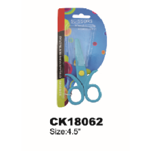 Factory Price Blue Flower Plastic School Scissors