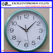 Marco azul de impresión de logotipo de plástico redondo reloj de pared (item12)