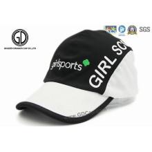 100% Polyester Microfaser Sport Racing Cap mit Stickerei