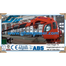 knuckle and telescopic boom hydraulic offshore platform vessel ship deck crane