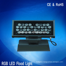 Energy saving garden rgb led flood light, flood lamp lighting 36w