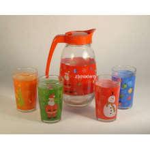 Jarra de jugo de vidrio conjunto (GA6062)