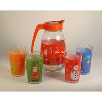 Glass Juice Bottle Set (GA6062)