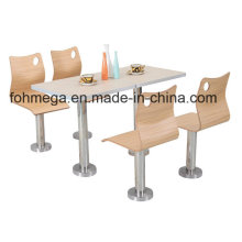 Fast Food Restaurant Dining Table Chair Set with Fixed Legs (FOH-BC04)