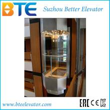 Ce 1250kg Хороший вид Панорамный лифт с машинным залом
