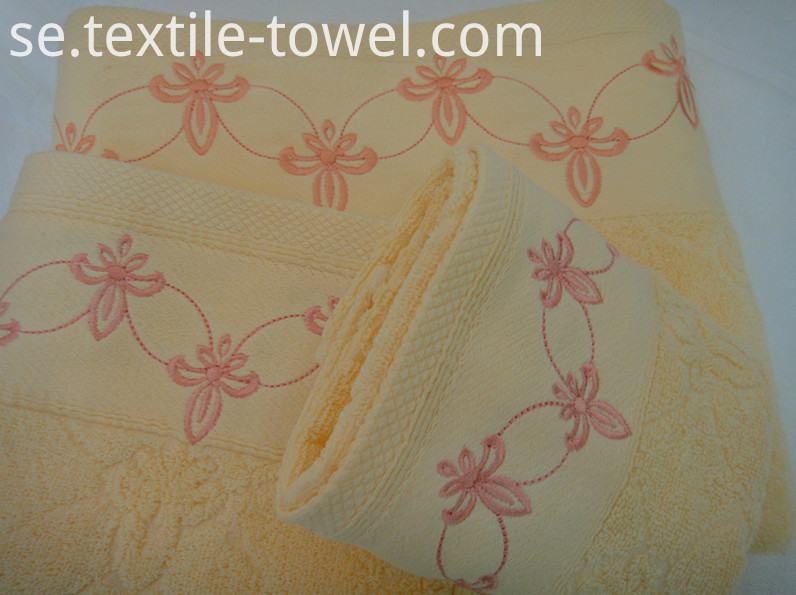 Embroidery Bath Towel Sets