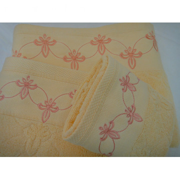 Flower Embroidered Decorative Bath Towels Collection