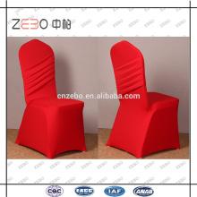 2015 nueva cubierta de la silla del hotel de la tela del Spandex del estiramiento del diseño para la venta
