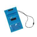 Titular de tarjeta de identificación de cuero de alta calidad vendedor caliente con cordón