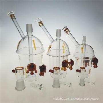 Rigs Honey Cup Glas Öl Rigs Rauchen Wasserpfeifen (ES-GB-388)