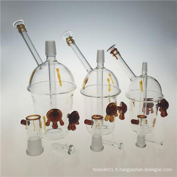 Rigs Honey Cup Glass Oil Rigs Smoking Water Pipes (ES-GB-388)