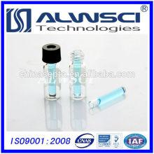 Fertigung 150ul Glas Flachboden Micro Insert für Autosampler Fläschchen